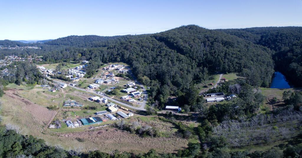 aerial view of Narara Ecovillage